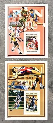 2 Guinea Sheet Imperforated With Space And Pekin Olympic Games