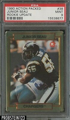 1990 Action Packed Rookie Update #38 Junior Seau Chargers RC HOF PSA 9 MINT