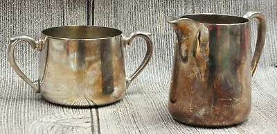 2 x Vintage CWS E.P.N.S. A1 Silver Plated Milk Jug Sugar Pot Containers - C10