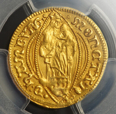 "1642, Hamburg (Free Hanseatic City). Gold ""Virgin Mary"" Ducat Coin. PCGS MS-62!"