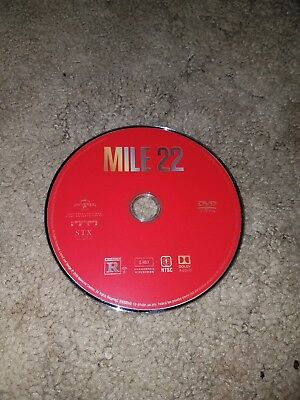 MILE 22 DVD Mark Wahlberg 2018)disc only