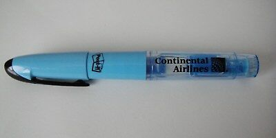 Continental Airlines Hi-Liter Pen w/ Built in Post-It Note Tabs
