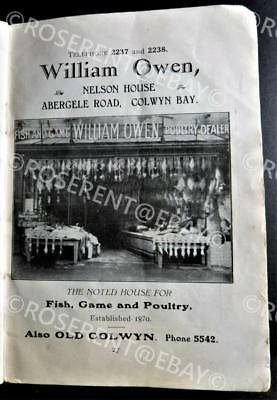 1900s Wales - Colwyn Bay - local Cookbook - Barnardos  Argyle House - fundraiser