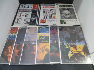 Lot of 9 The Sandman Comics A Game Of You Part 1-6,Distant Mirrors, & Etc (100)