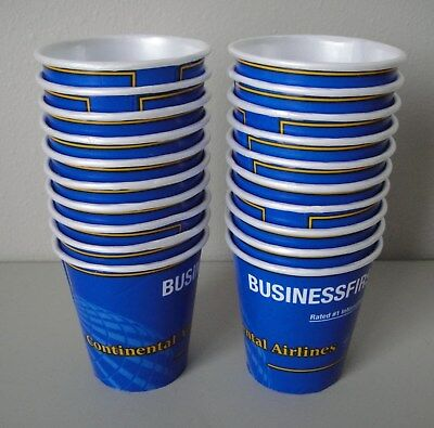 Continental Airlines - In-Flight Business First Styrofoam Cup - Lot of 20 - New