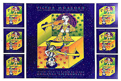 Victor Moscoso Show Poster Psychedelic Solutions New York 1987 Original Proof