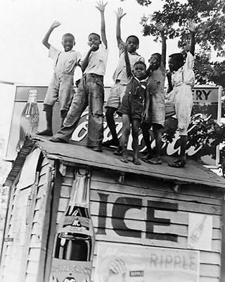 AFRICAN AMERICAN ART PRINT African American Boys with Coca Cola Sign