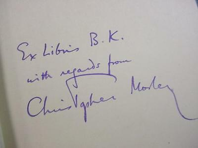 NobleSpirit NO RESERVE {3970}Christopher Morley Autograph in First Edition Book
