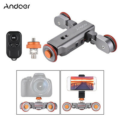 Andoer L4 Autodolly 3 Speed Adjustable with Wireless Remote Control/ G5U9