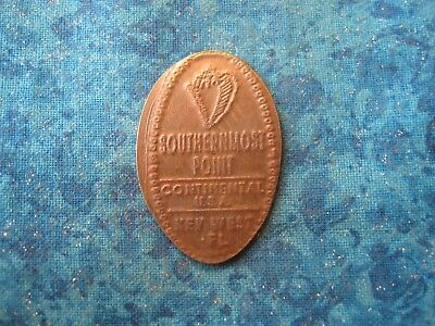 SOUTHERNMOST POINT CONTINENTIAL USA KEY WEST Elongated Penny Pressed Smashed 24