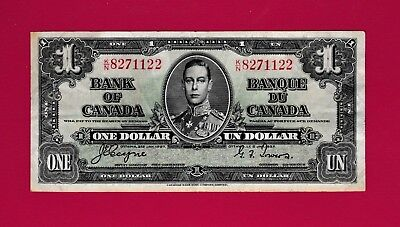 SCARCE One 1 Dollar 1937 BANKNOTE (F) - Bank Of Canada - Very Collectible Note