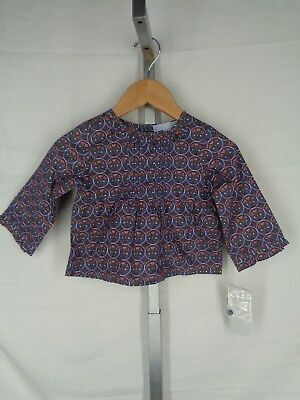 Lucy Skyes Baby Shirt Top Size 24M Floral Long Sleeve New