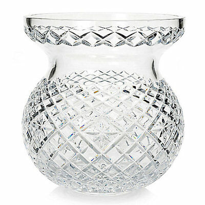 """Waterford Crystal Heritage 9"""" Diamond & Wedge Cut Bouquet Vase (New Damaged Box)"""