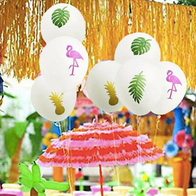 10pcs Pearl Latex Balloons Tropical Flamingo Hawaii Beach Pool Party Decoration