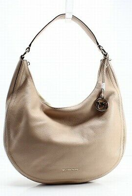 Michael Kors NEW Beige Pebble Leather Lydia Large Hobo Shoulder Bag  298-   039 d048c3b07628b