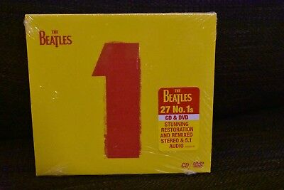 The Beatles - 1 (CD and DVD Set) -110 minutes - brand new sealed 2015