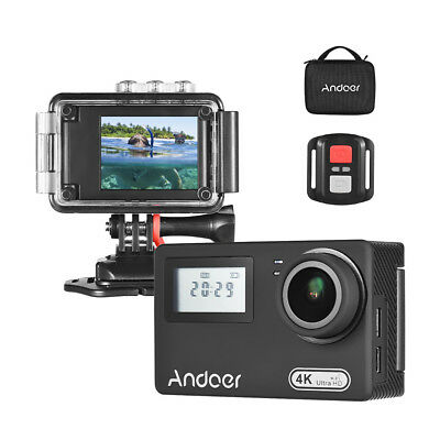 "Dual Display 2"" Rotary LCD 4K WiFi 16MP Action Sports Camera+Remote Control D3P4"