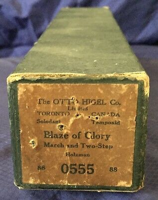 RP2715 Vtg The Otto Higel Co. LTD. Player Piano Music Roll 0555 Blaze of Glory