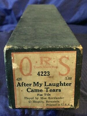 RP2728 Vtg QRS Word Player Piano Music Roll 4223 After My Laughter Came Tears