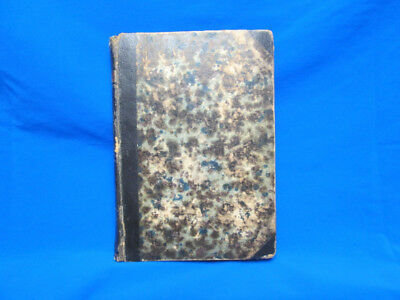 1862 Antique Medical Military Book By Grauvogl - Owned By Homeopathic Dr. Eggert