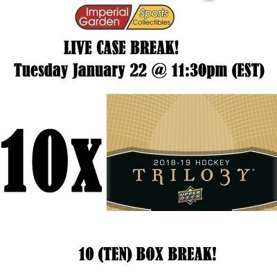 18-19 UD TRILOGY 10 (TEN) BOX CASE BREAK #1167 - Montreal Canadiens