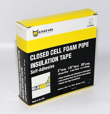 """K-flex closed cell pipe insulation Foam adhesive tape 1/8"""" thick  2"""" wide x 30'"""