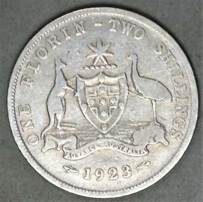 Australia 1923 Florin Sterling Silver Coin