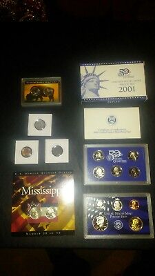 COIN LOT + SACAJAWEA DOLLAR PROOF SET Mississippi set INDIAN cent+no junk drawer