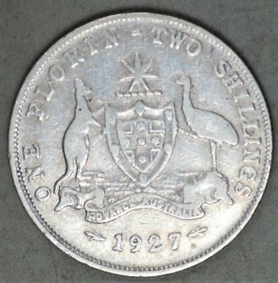 Australia 1928 Florin Sterling Silver Coin