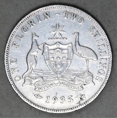 Australia 1935 Florin Sterling Silver Coin