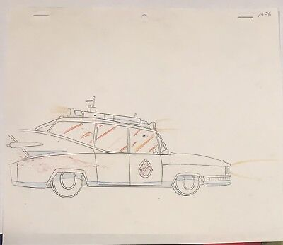 Real Ghostbusters Original Animation Production Art Drawing DIC Entertainment