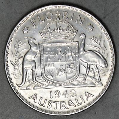 Australia 1942 Florin Sterling Silver Coin