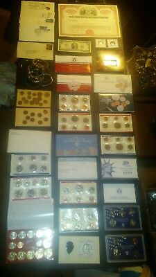 BIG coin collection MINT SETS LOT PROOF $2 RAILROAD BOND silver NO JUNK DRAWER