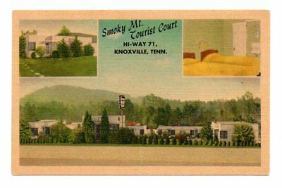 Smoky Mt. Tourist Court, Knoxville, TN Linen Postcard