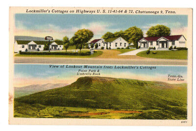 Lockmiller's Cottages, Chattanooga, TN Linen Postcard