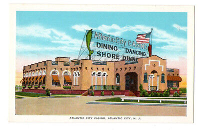Atlantic City Casino, Dining, Dancing, Dinner, Atlantic City, NJ Old Postcard