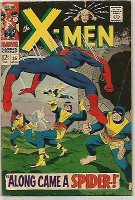 X-MEN #35    SPIDER-MAN Cover! Early Silver Age  NICE!