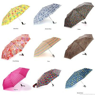 NEW Totes Auto Open Compact Folding Umbrellas Choose from 44 Designs