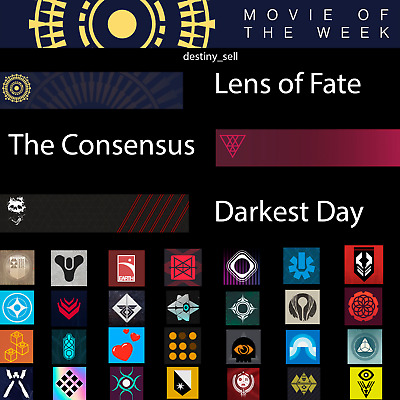 Destiny 2 Emblems - The Consensus, Lens of Fate, Darkest Day & More PS4/XBOX/PC