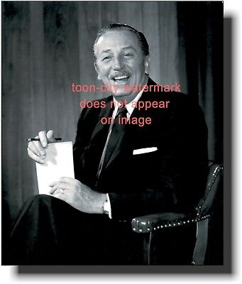 Walt Disney Black White 8 x 10 Last Corporate photograph NEW Disneyland