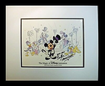 Signed Voice Bret Iwan Mickey Mouse Disney Cel MGM Studio hand Painted