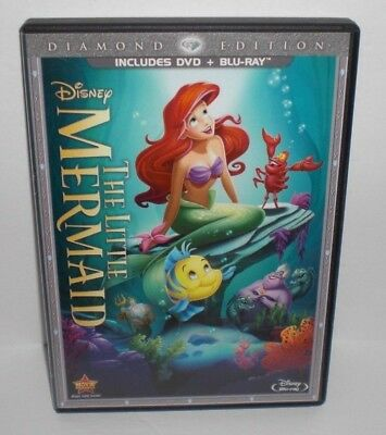 Disney's THE LITTLE MERMAID 2-Disc DVD + Blu-ray Disc Combo Set RARE & OOP
