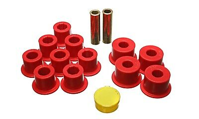 Energy Suspension 7.2103R Leaf Spring Bushing Set Fits D21 Pickup (Hard Body)