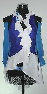 Halloween Yuna Lenne Songstress Costume Cosplay Final Fantasy SIZE LARGE
