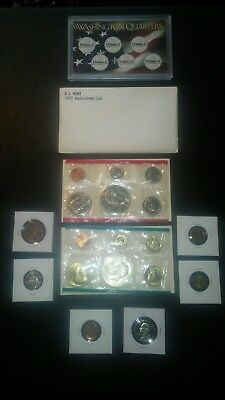 COIN collection LOT Eisenhower Dollar Mint SET proof WHEAT nickel+no junk drawer