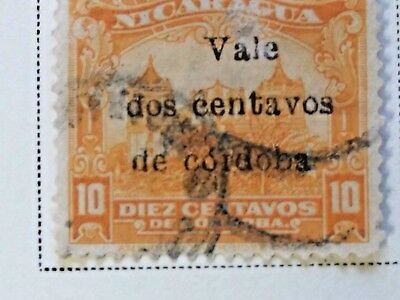 Nicaragua stamps  10 centavos   OVP  Vale  2 ct   1918-19  LH