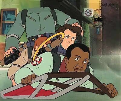 Real Ghostbusters Original  Animation Production Art Cel DIC ENT