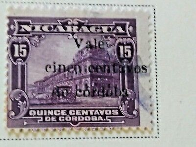 Nicaragua stamps  15 centavos   OVP  Vale  5 ct   1918-19  LH