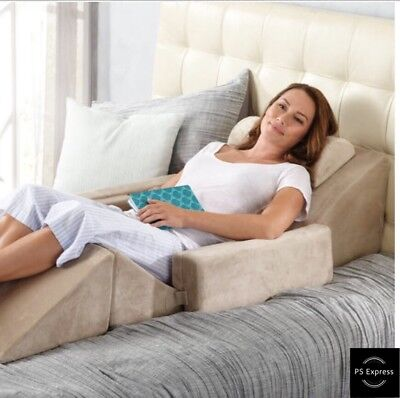 Brookstone Build-A-Bed Rest Customizable Bed Wedge - New in Box