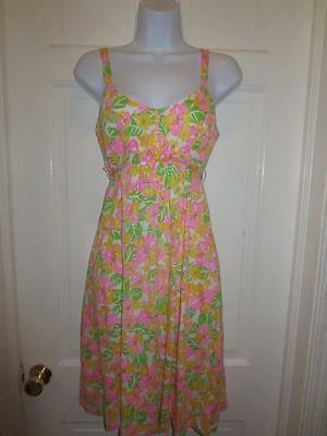 LILLY PULITZER Womens COLORFUL FLORAL Strappy BELTED DRESS Size S Small